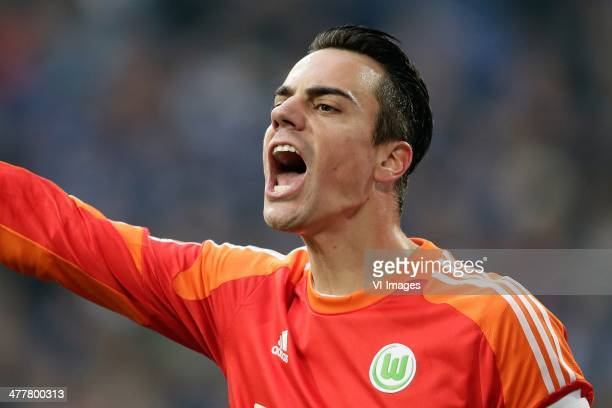 Diego Benaglio of VFL Wolfsburg during the German Bundesliga match between Schalke 04 and VFL Wolfsburg at VeltinsArena on february 1 2014 in...