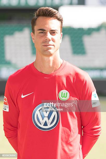 Diego Benaglio poses during the official team presentation of VfL Wolfsburg at Volkswagen Arena on September 14 2016 in Wolfsburg Germany