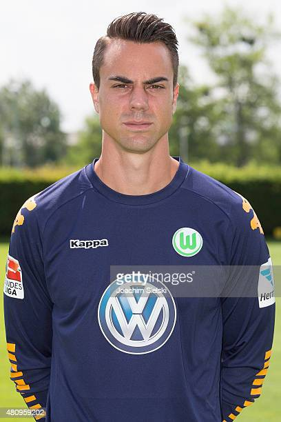 Diego Benaglio poses during the team presentation of VfL Wolfsburg at Volkswagen Arena on July 16 2015 in Wolfsburg Germany