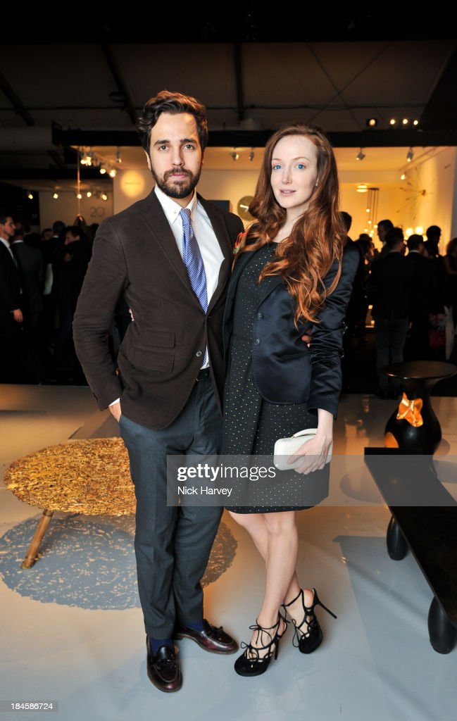 Diego Bivero-Volpe and Olivia Grant attend the collectors preview for PAD London at Berkeley Square Gardens on October 14, 2013 in London, England.