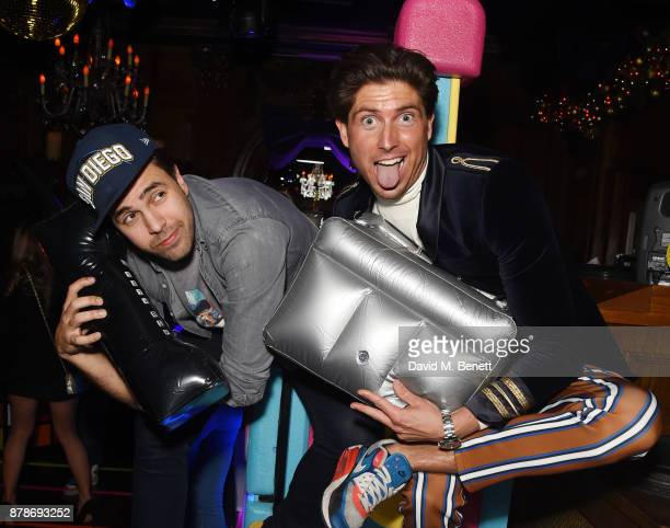 Diego BiveroVolpe and Ollie Chambers attend Ollie Chambers Antoin Commane's annual themed party at Tramp on November 24 2017 in London England