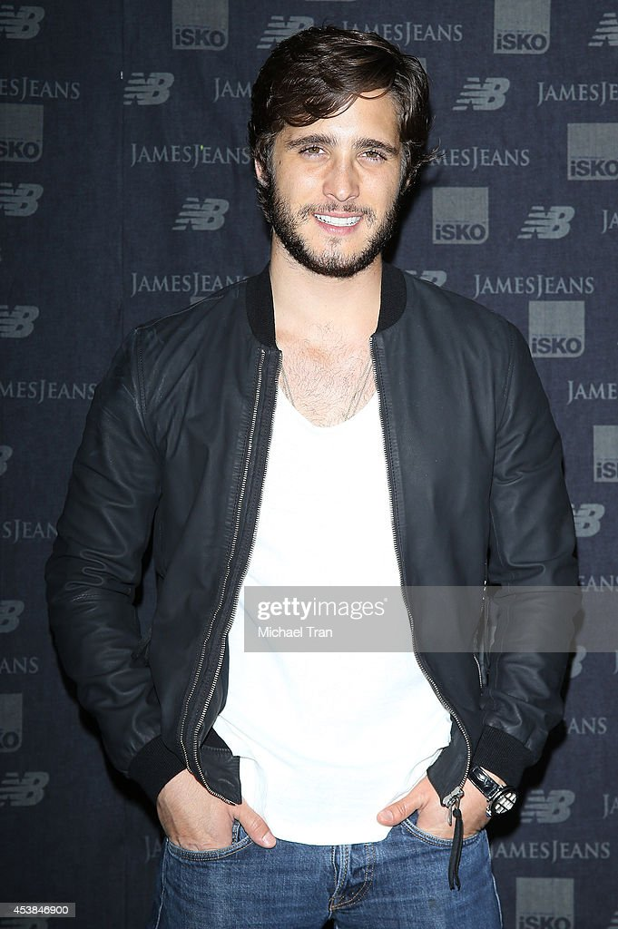<a gi-track='captionPersonalityLinkClicked' href=/galleries/search?phrase=Diego+Boneta&family=editorial&specificpeople=6787641 ng-click='$event.stopPropagation()'>Diego Boneta</a> arrives at the dance party with New Balance and James Jeans powered by ISKO held at a private residence on August 19, 2014 in Beverly Hills, California.