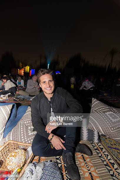 Diego Boneta attends Cinespia's screening of '2001 A Space Odyssey' held at Hollywood Forever on August 20 2016 in Hollywood California