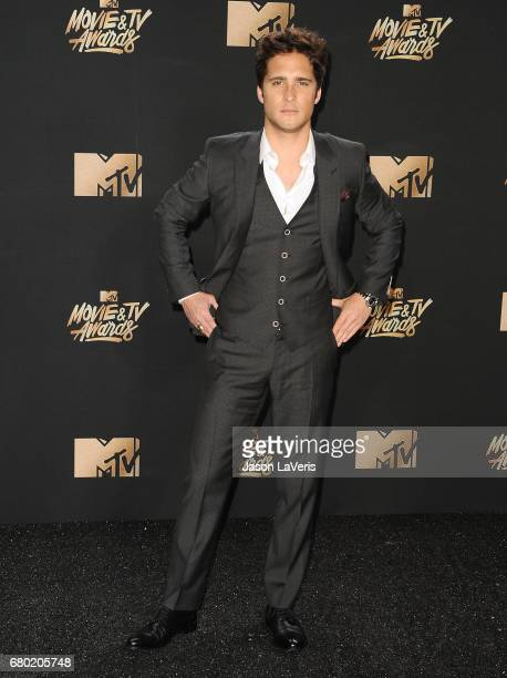 Diego Boneta poses in the press room at the 2017 MTV Movie and TV Awards at The Shrine Auditorium on May 7 2017 in Los Angeles California