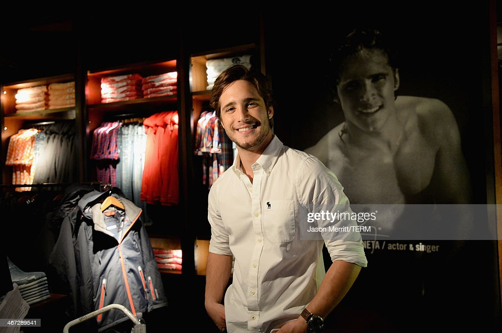 """Diego Boneta stops by the Abercrombie Fitch store at The Grove in Los Angeles to kick off the launch of their """"The Making of a Star"""" spring campaign..."""