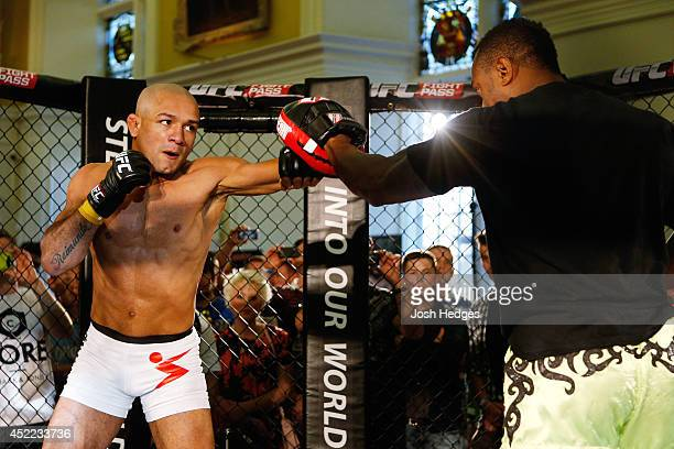 Diego Brandao holds an open training session during the UFC media day at Royal Hospital Kilmainham on July 16 2014 in Dublin Ireland