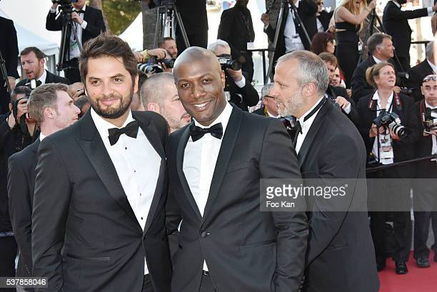 Diego Bunuel and Harry Roselmack attend the 'Elle' Premiere during the 69th annual Cannes Film Festival at the Palais des Festivals on May 21 2016 in...