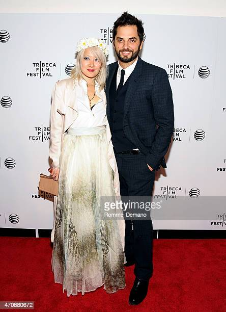 Diego Bunuel and Maggie Kim attend TFF Awards Night during the 2015 Tribeca Film Festival at Spring Studio on April 23 2015 in New York City
