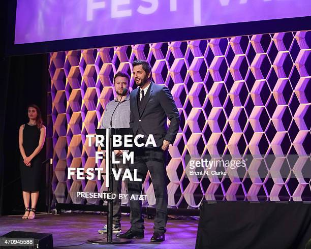Diego Bunuel speaks on stage during the Tribeca Film Festival Awards Night held at Spring Studios on April 23 2015 in New York City