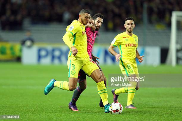Diego Carlos of Nantes during the Ligue 1 match between Fc Nantes and Toulouse Fc at Stade de la Beaujoire on November 5 2016 in Nantes France