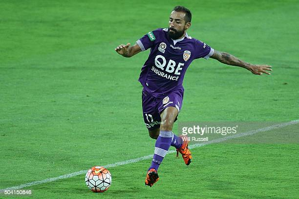 Diego Castro of the Glory controls the ball during the round 14 ALeague match between the Perth Glory and Adelaide United at nib Stadium on January 9...