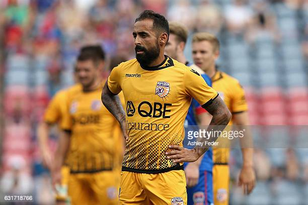 Diego Castro of the Glory looks dejected during the round 15 ALeague match between the Newcastle Jets and the Perth Glory at McDonald Jones Stadium...