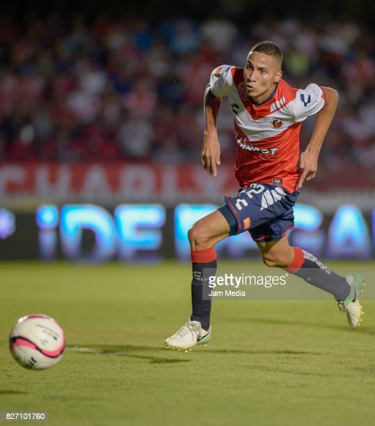 Diego Chavez of Veracruz runs for the ball during the 3rd round match between Veracruz and Puebla as part of the Torneo Apertura 2017 Liga MX at Luis...