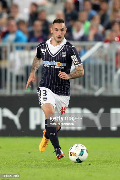Diego Contento of Bordeaux and XXXX of Metz during the Ligue 1 match between Girondins Bordeaux and Fc Metz at Nouveau Stade de Bordeaux on April 8...