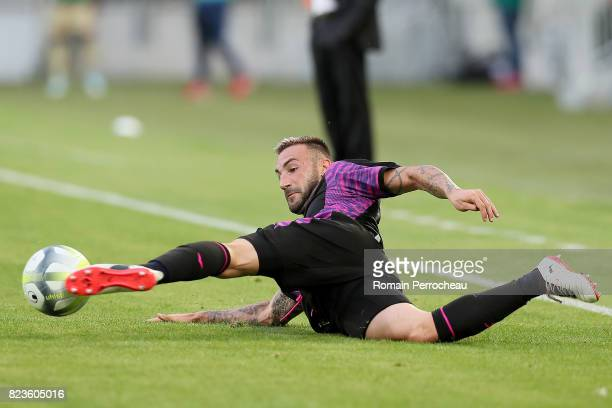 Diego Contento of Bordeaux reacts after his goal during the UEFA Europa League qualifying match between Bordeaux and Videoton at Stade Matmut...