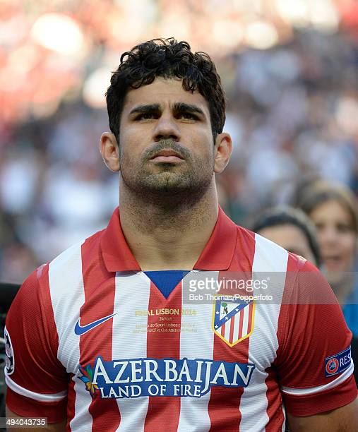 Diego Costa of Atletico de Madrid prior to the UEFA Champions League Final between Real Madrid and Atletico de Madrid at Estadio da Luz on May 24...