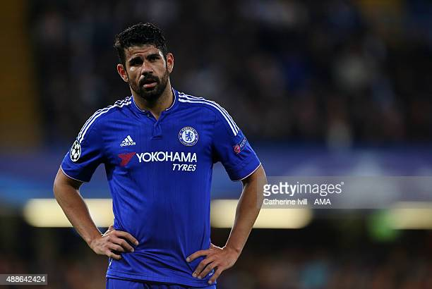 Diego Costa of Chelsea during the UEFA Champions League match between Chelsea and Maccabi TelAviv at Stamford Bridge on September 16 2015 in London...