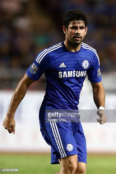 Diego Costa of Chelsea in action during the international friendly match between Thailand AllStars and Chelsea FC at Rajamangala Stadium on May 30...