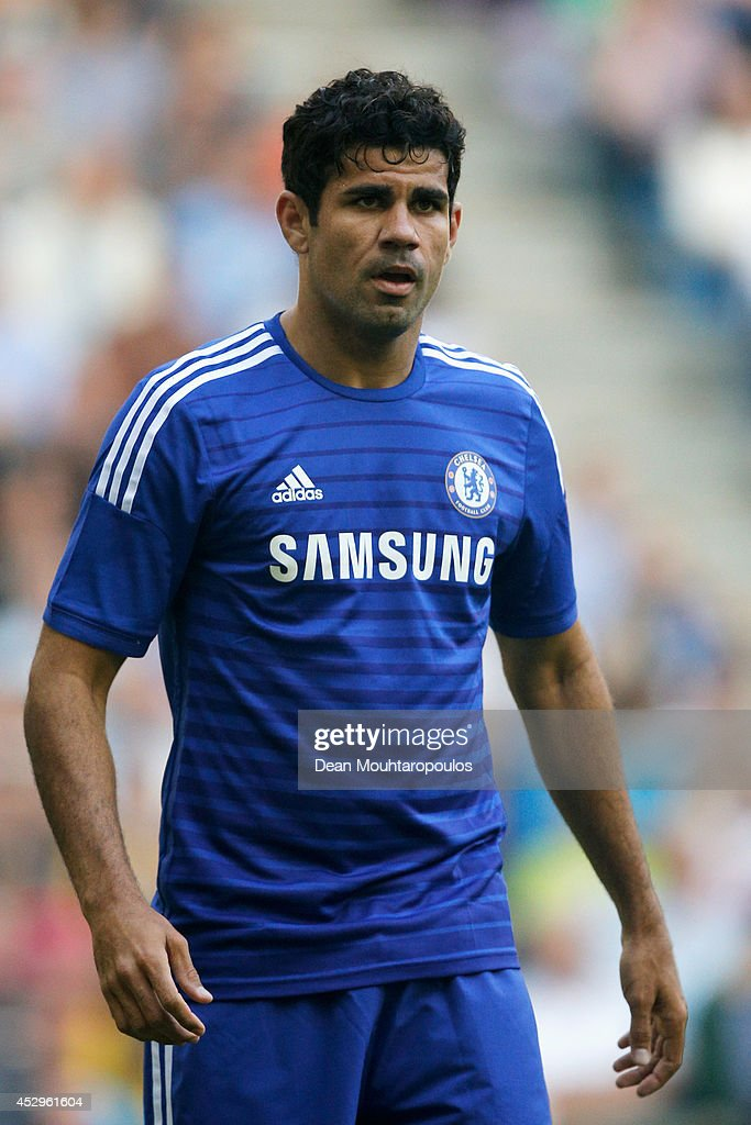 Diego Costa of Chelsea in action during the pre season friendly match between Vitesse Arnhem and Chelsea at the Gelredome Stadium on July 30, 2014 in Arnhem, Netherlands.