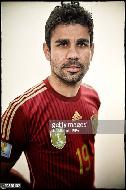 Diego Costa of Spain poses during the official Fifa World Cup 2014 portrait session on June 9 2014 in Curitiba Brazil