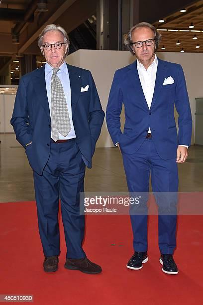 Diego Della Valle and Andrea Della Valle attend the Convivio 2014 on June 12 2014 in Milan Italy