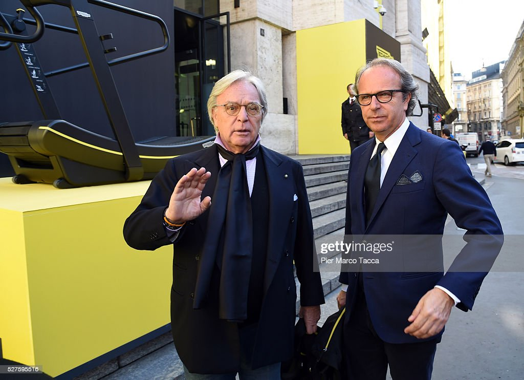 <a gi-track='captionPersonalityLinkClicked' href=/galleries/search?phrase=Diego+Della+Valle&family=editorial&specificpeople=579454 ng-click='$event.stopPropagation()'>Diego Della Valle</a> and Andrea Della Valle attend the Technogym Listing Ceremony at Palazzo Mezzanotte on May 3, 2016 in Milan, Italy. Technogym is the world leader in the construction of equipment for gyms, founded in 1983 by Nerio Alessandri, and was listed today on the Milan Stock Exchange.