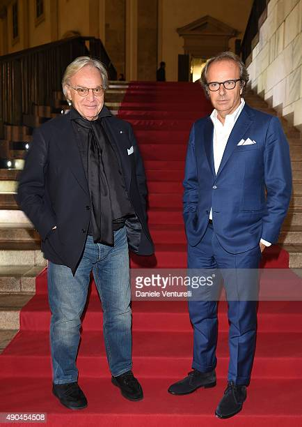 Diego Della Valle and Andrea Della Valle attend Vogue China 10th Anniversary at Palazzo Reale on September 28 2015 in Milan Italy