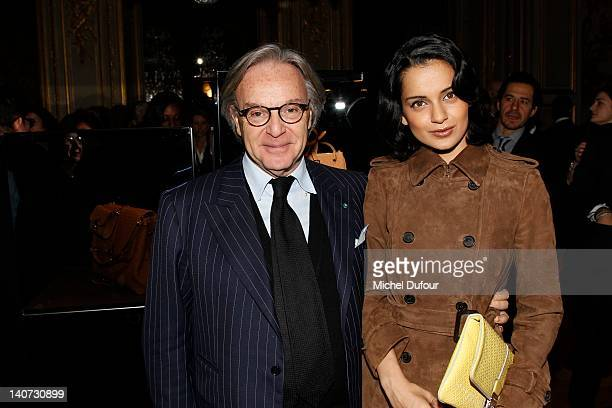 Diego Della Valle and Kangana Ranaut attend the Tod's Signature Cocktail as part of Paris Fashion Week on March 5 2012 in Paris France