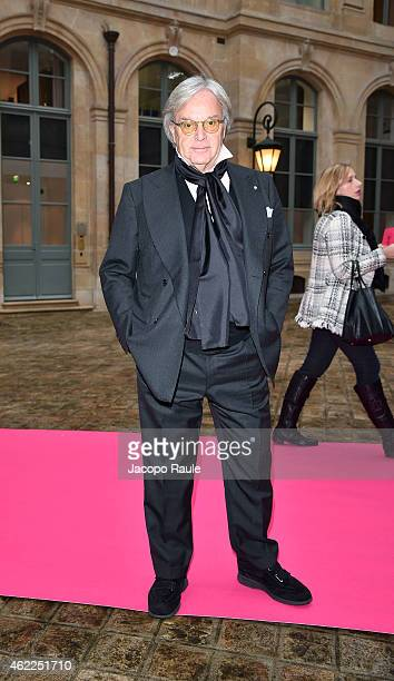 Diego Della Valle attends the Schiaparelli show as part of Paris Fashion Week Haute Couture Spring/Summer 2015 on January 26 2015 in Paris France