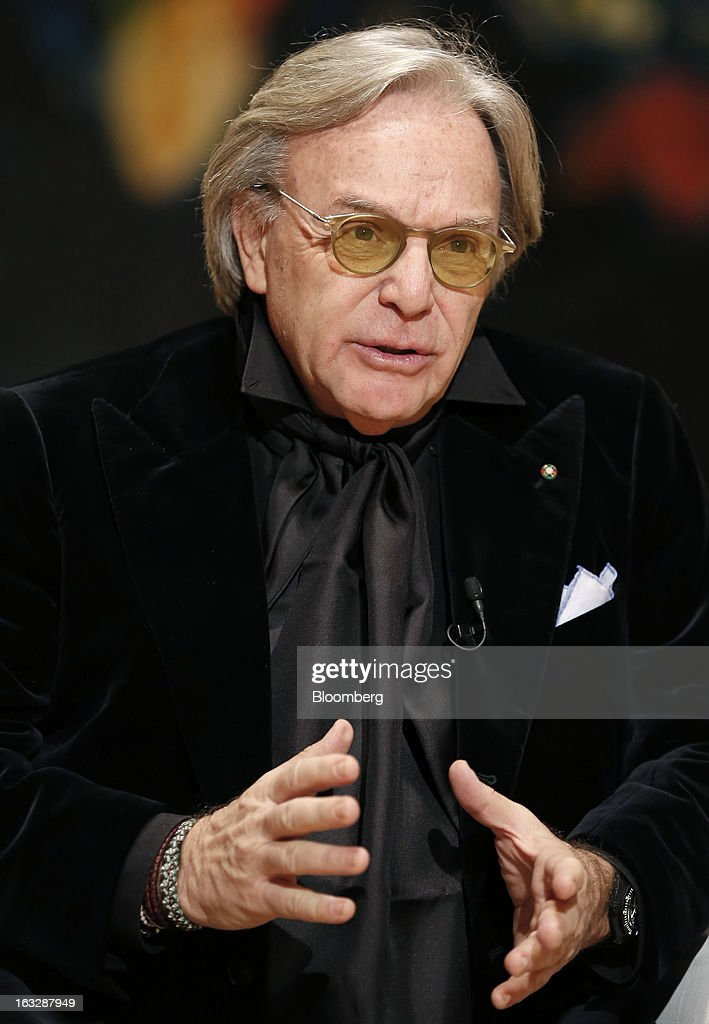 <a gi-track='captionPersonalityLinkClicked' href=/galleries/search?phrase=Diego+Della+Valle&family=editorial&specificpeople=579454 ng-click='$event.stopPropagation()'>Diego Della Valle</a>, billionaire and chairman of Tod's SpA, gestures during a Bloomberg Television interview at the company's headquarters in Sant'Elpidio a Mare, near Civitanova Marche, Italy, on Wednesday, March 6, 2013. Tod's, the maker of luxury footware and clothing accessories, is due to report earnings for 2012 on March 13. Photographer: Alessia Pierdomenico/Bloomberg via Getty Images