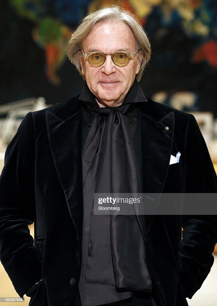 <a gi-track='captionPersonalityLinkClicked' href=/galleries/search?phrase=Diego+Della+Valle&family=editorial&specificpeople=579454 ng-click='$event.stopPropagation()'>Diego Della Valle</a>, billionaire and chairman of Tod's SpA, poses for a photograph in his office following a Bloomberg Television interview at the company's headquarters in Sant'Elpidio a Mare, near Civitanova Marche, Italy, on Wednesday, March 6, 2013. Tod's, the maker of luxury footware and clothing accessories, is due to report earnings for 2012 on March 13. Photographer: Alessia Pierdomenico/Bloomberg via Getty Images