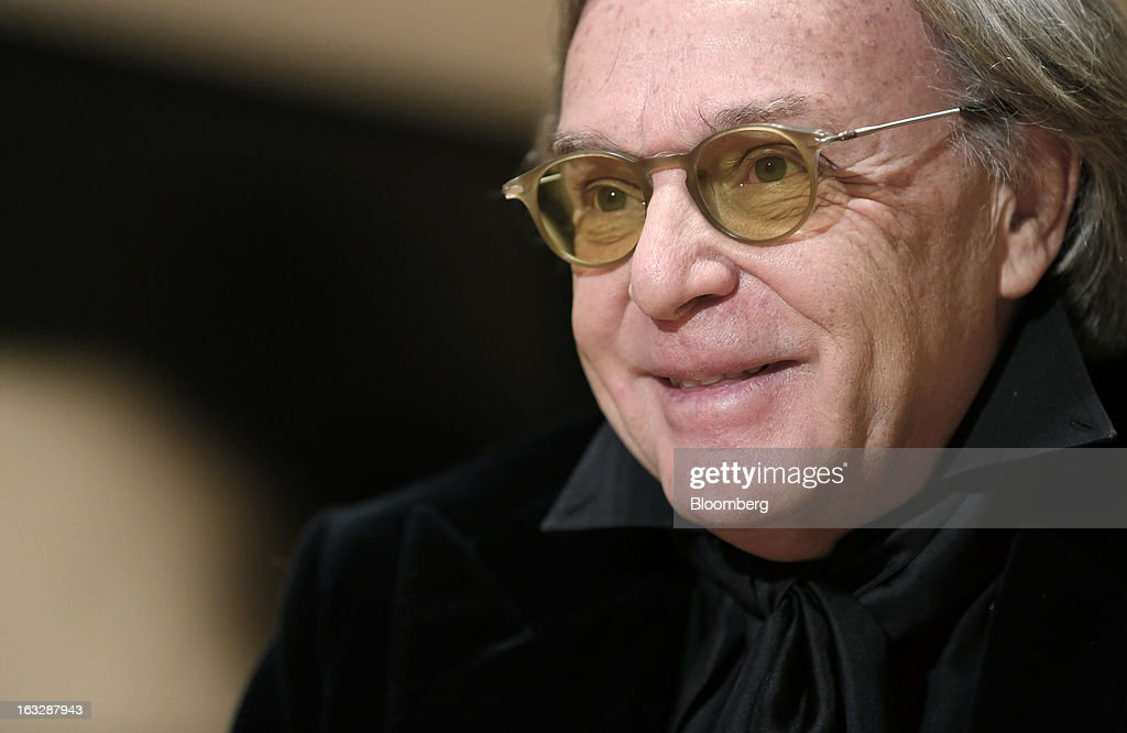 <a gi-track='captionPersonalityLinkClicked' href=/galleries/search?phrase=Diego+Della+Valle&family=editorial&specificpeople=579454 ng-click='$event.stopPropagation()'>Diego Della Valle</a>, billionaire and chairman of Tod's SpA, reacts during a Bloomberg Television interview at the company's headquarters in Sant'Elpidio a Mare, near Civitanova Marche, Italy, on Wednesday, March 6, 2013. Tod's, the maker of luxury footware and clothing accessories, is due to report earnings for 2012 on March 13. Photographer: Alessia Pierdomenico/Bloomberg via Getty Images
