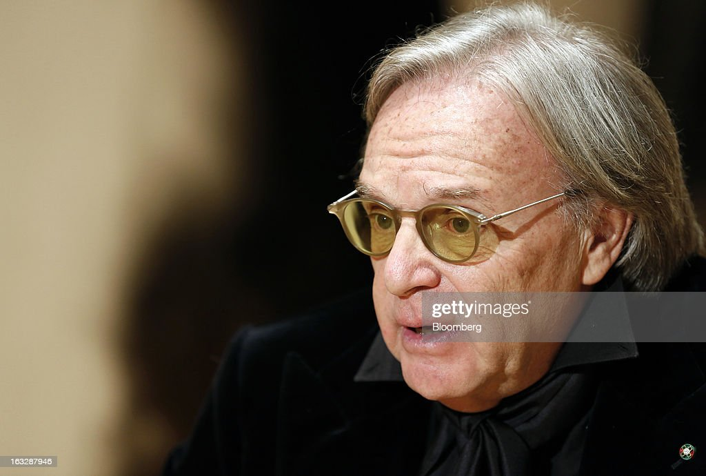 <a gi-track='captionPersonalityLinkClicked' href=/galleries/search?phrase=Diego+Della+Valle&family=editorial&specificpeople=579454 ng-click='$event.stopPropagation()'>Diego Della Valle</a>, billionaire and chairman of Tod's SpA, speaks during a Bloomberg Television interview at the company's headquarters in Sant'Elpidio a Mare, near Civitanova Marche, Italy, on Wednesday, March 6, 2013. Tod's, the maker of luxury footware and clothing accessories, is due to report earnings for 2012 on March 13. Photographer: Alessia Pierdomenico/Bloomberg via Getty Images