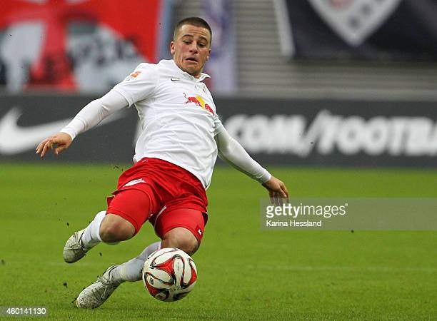 Diego Demme of Leipzig during the 2Liga match between RasenBallsport Leipzig and FC Ingolstadt 04 at Red Bull Arena on Dezember 07 2014 in Leipzig...