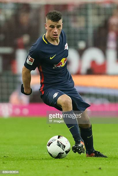 Diego Demme of Leipzig in action during the Bundesliga match between Bayern Muenchen and RB Leipzig at Allianz Arena on December 21 2016 in Munich...