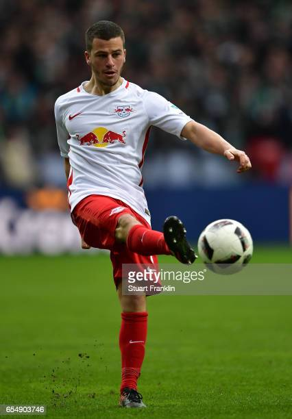 Diego Demme of Leipzig in action during the Bundesliga match between Werder Bremen and RB Leipzig at Weserstadion on March 18 2017 in Bremen Germany