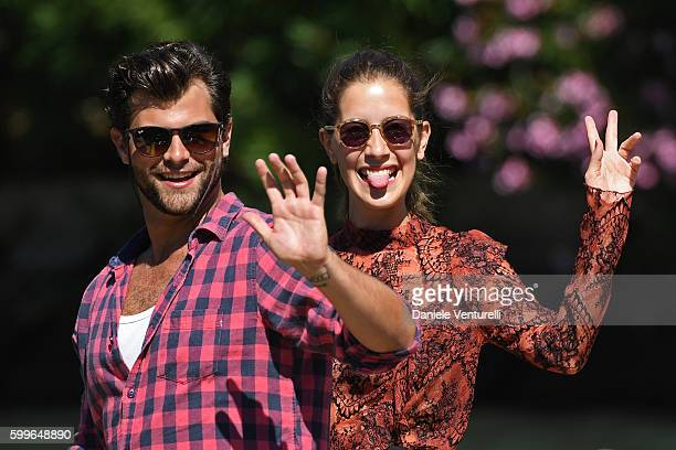 Diego Dominguez and Clara Alonso arrive at Lido during the 73rd Venice Film Festival on September 6 2016 in Venice Italy