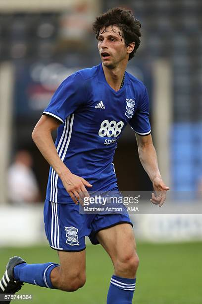 Diego Fabbrini of Birmingham City during the PreSeason Friendly between Shrewsbury Town and Birmingham City at the Greenhous Meadow Stadium on July...