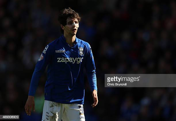Diego Fabbrini of Birmingham City looks on during the Sky Bet Championship match between Birmingham City and Wolverhampton Wanderers at St Andrews on...