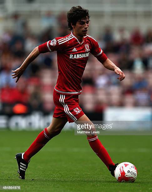 Diego Fabbrini of Middlesbrough in action during the Sky Bet Championship match between Middlesbrough v Bristol City at Riverside Stadium on August...