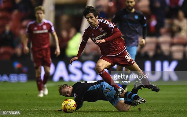 Diego Fabbrini of Middlesbrough in action during the Sky Bet Championship match between Middlesbrough and Sheffield Wednesday at the Riverside...