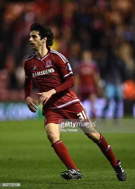 Diego Fabbrini of Middlesbrough of action during the Sky Bet Championship match between Middlesbrough and Sheffield Wednesday at the Riverside...