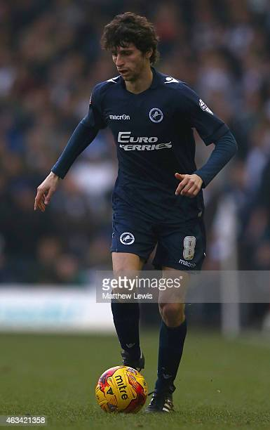 Diego Fabbrini of Millwall in action during the Sky Bet Championship match between Leeds United and Millwall at Elland Road on February 14 2015 in...