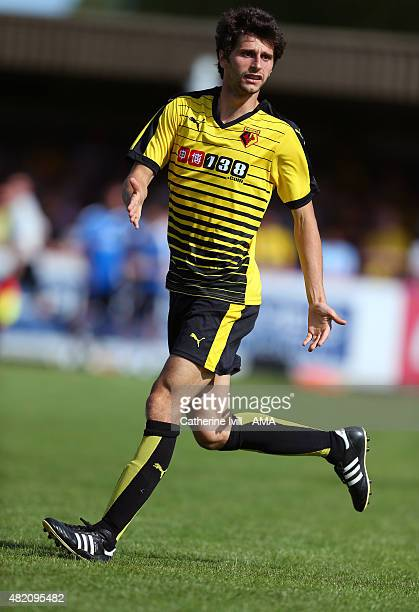 Diego Fabbrini of Watford during the Pre Season Friendly match between AFC Wimbledon and Watford at The Cherry Red Records Stadium on July 11 2015 in...