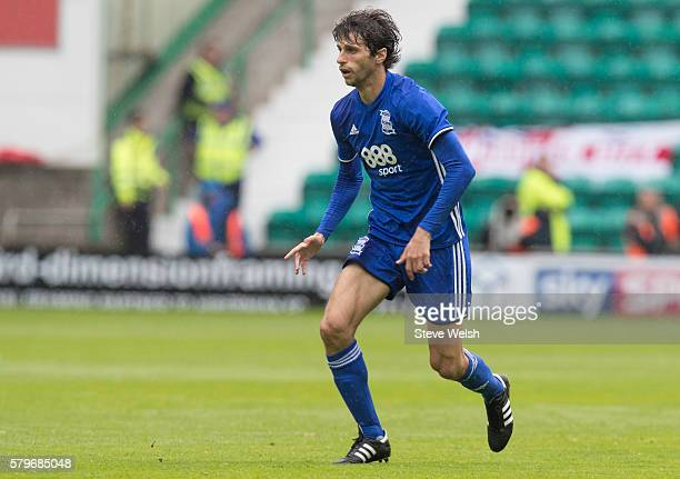Diego Fabrini in action for Birmingham City during the PreSeason Friendly between Hibernian and Birmingham City at Easter Road on July 24 2016 in...