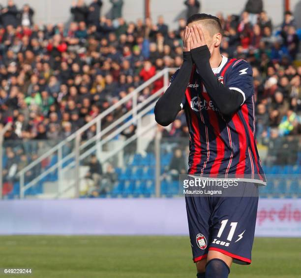 Diego Falcinelli of Crotone during the Serie A match between FC Crotone and US Sassuolo at Stadio Comunale Ezio Scida on March 5 2017 in Crotone Italy
