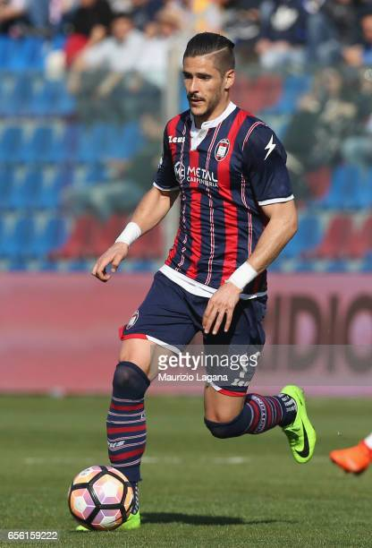 Diego Falcinelli of Crotone during the Serie A match between FC Crotone and ACF Fiorentina at Stadio Comunale Ezio Scida on March 19 2017 in Crotone...