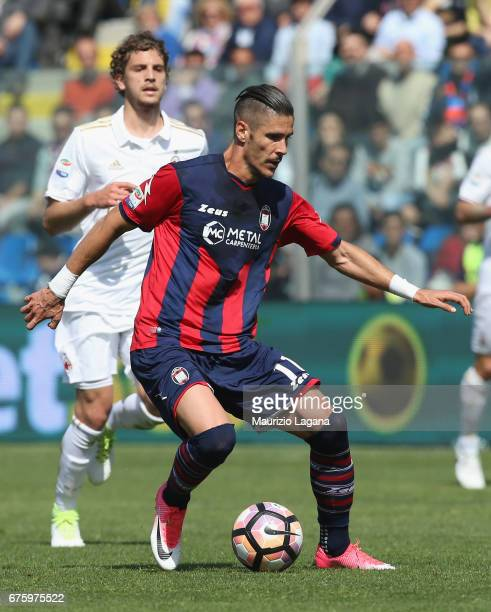 Diego Falcinelli of Crotone during the Serie A match between FC Crotone and AC Milan at Stadio Comunale Ezio Scida on April 30 2017 in Crotone Italy