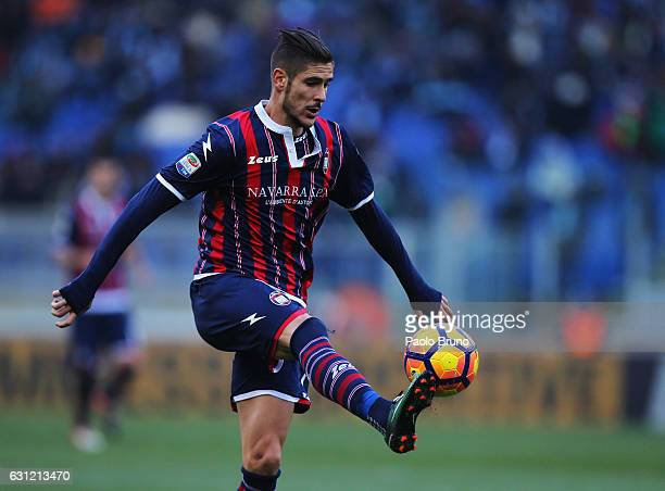 Diego Falcinelli of FC Crotone in action during the Serie A match between SS Lazio and FC Crotone at Stadio Olimpico on January 8 2017 in Rome Italy