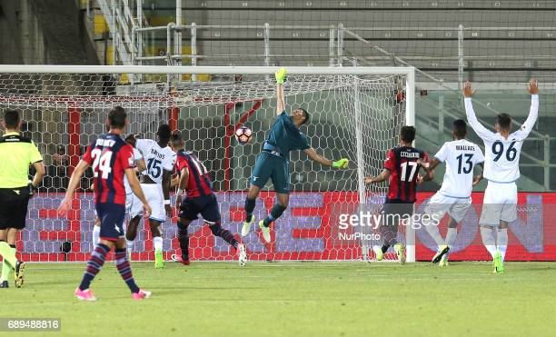 Diego Falcinelli of FC Crotone scores a second goal during the Serie A match between FC Crotone and SS Lazio at Stadio Comunale Ezio Scida on May 28...